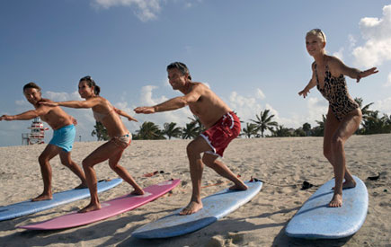 Learn how to surf in the waters outside of Waikiki