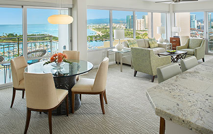 Ilikai Hotel & Luxury Suites 2-Bedroom Ocean View
